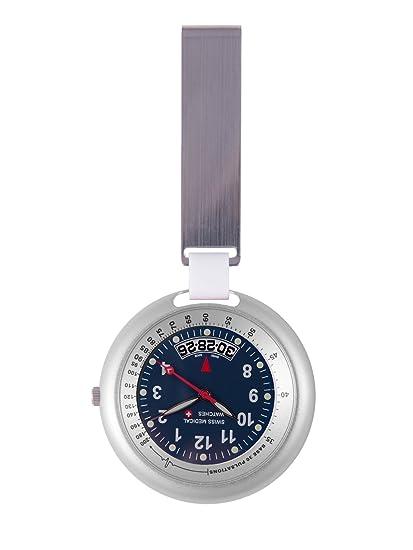 Reloj Swiss profesional de la medicina línea color plateado + grabado gratis .