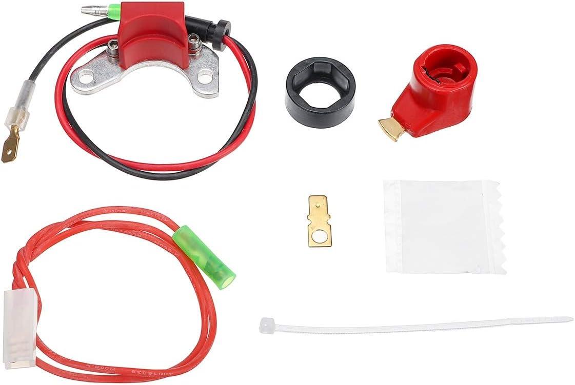 IUFINUEN Un Conjunto de Encendido electrónico Puntos Distribuidor Conversión de Bobina Fit Kit Todos los Coches