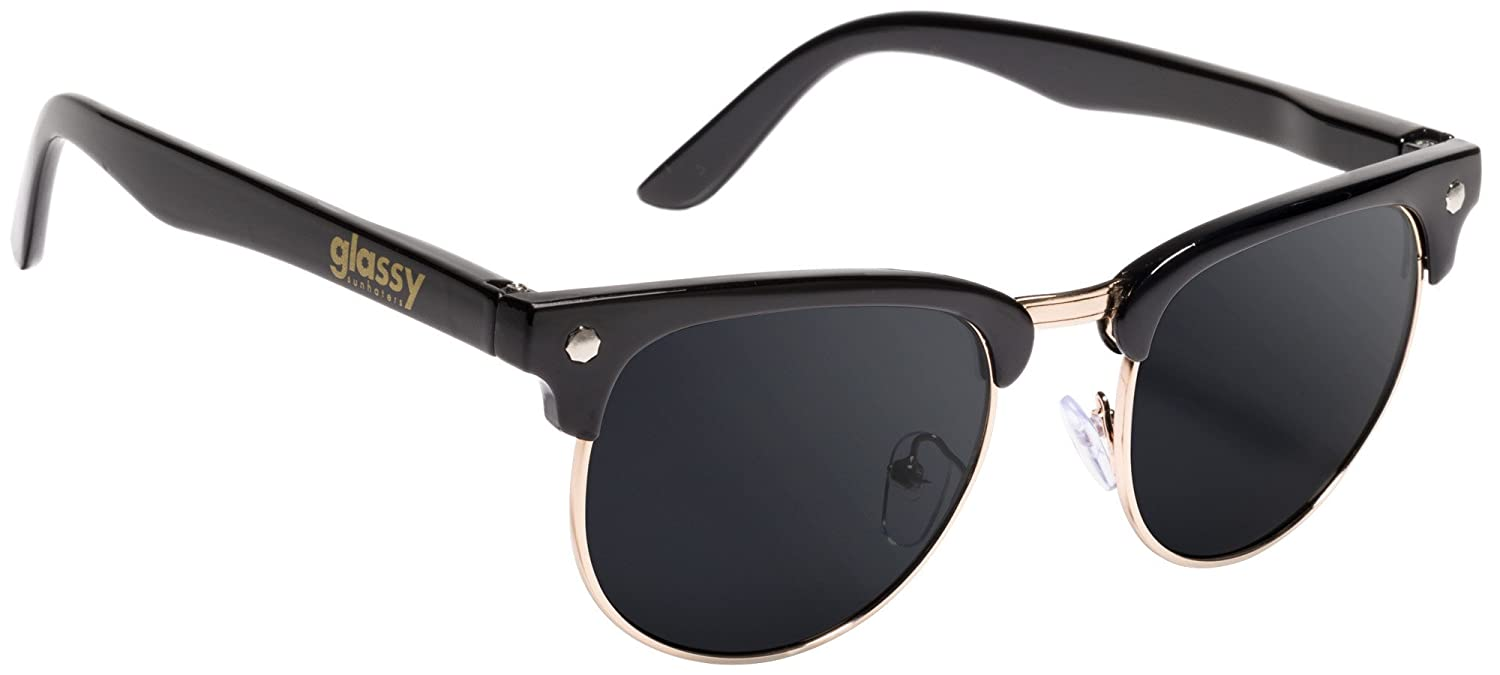 1b94c4cdd8 Glassy Sunhaters Sunglasses Morrison Black Gold with Green Mirror Polarized  Lens  Amazon.ca  Sports   Outdoors