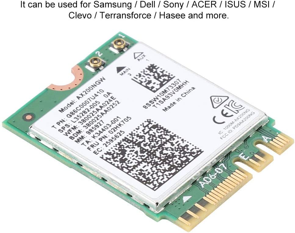 for Intel AX200NGW 802.11AX WIFI6 2.4Gbps Dual Band Wireless Network Card with Bluetooth 5.0 vlan Network Card High Speed Wireless Network Card Wireless Network Card