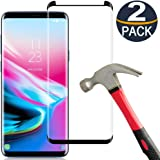 [2-Pack] Keklle Galaxy S9 Screen Protector, Case Friendly,Anti-Scratch,Anti-Bubble,High Definition 3D Curved Tempered Glass Film Suitable for Samsung S9