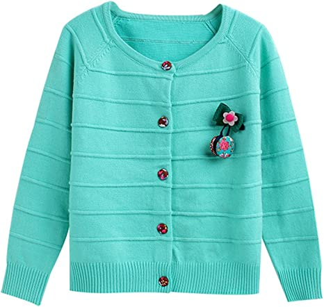 Baby Boys Girls Button-Down Cardigan Toddler Cotton Knit Sweater Blue 110