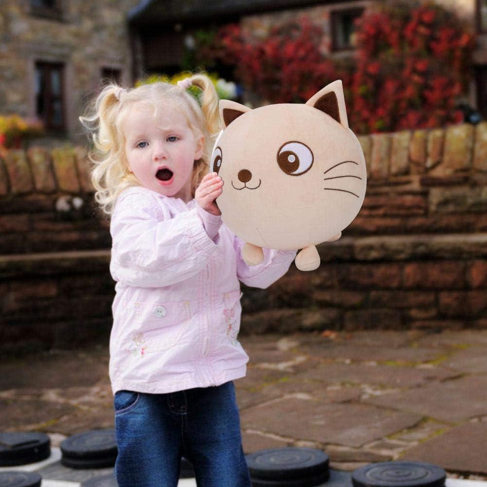 Balle de Jouet Boule de Jeu en Peluche de Chat en Forme de Chat Animal Gonflable pour Enfants en Bas /Äge Gar/çons et Filles VGEBY1 Ballon en Peluche Chat