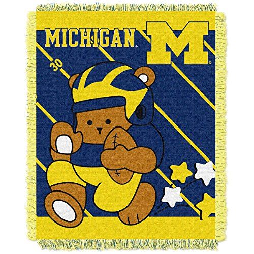 THE NORTHWEST COMPANY MICHIGAN WOLVERINES FULLBACK BABY TRIPLE WOVEN JACQUARD THROW