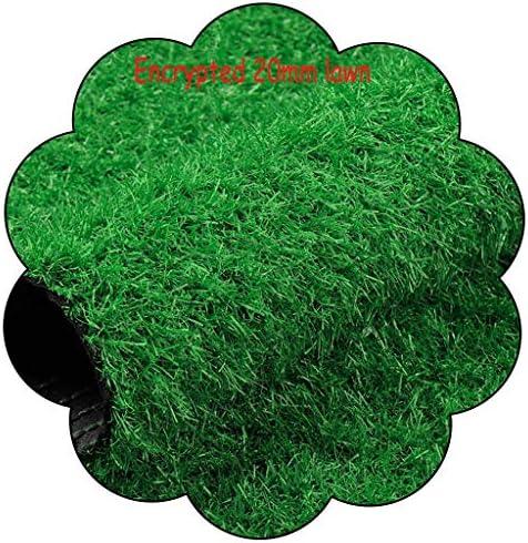 XEWNEG 20mmグリーン人工芝、滑り止め底、暗号化自動水浸透耐摩耗性、ペットカーペットパッド用、庭の壁の装飾偽の芝生 (Size : 2x2M)