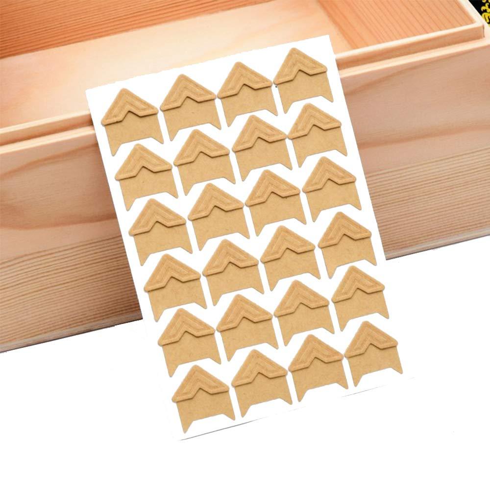 Album Xeminor 144 Piece Photo Mounting Corners Photo Corners Sticker for Scrapbook Picture Journal