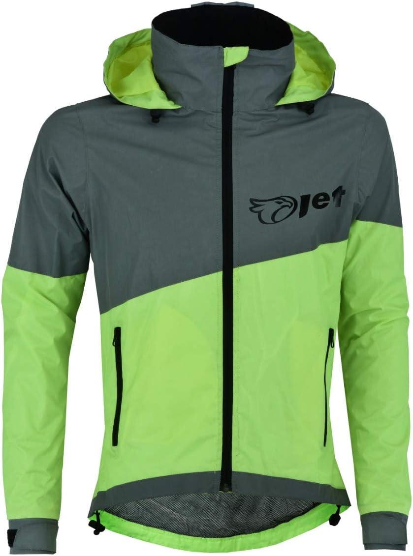 Jet Ultra Hi Vis 360 Veste De Cyclisme en Plein Air R/éfl/échissant Imperm/éable Respirant Coupe-Vent