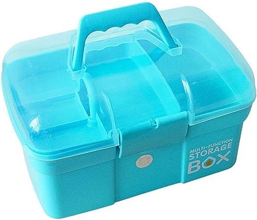 Estuche de primeros auxilios Caja de la caja de medicina de emergencia Organizador de la caja de almacenamiento 2 capas de plástico Transparente Contenedor de primeros auxilios Armarios de medicamento: Amazon.es: Jardín