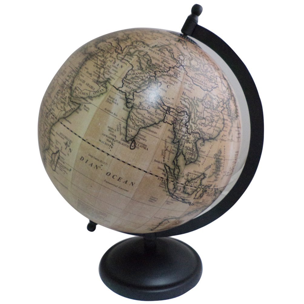 Unique Geography Earth Globe Home Decor Table Ocean Metal Stand Big Rotating Globe 12''