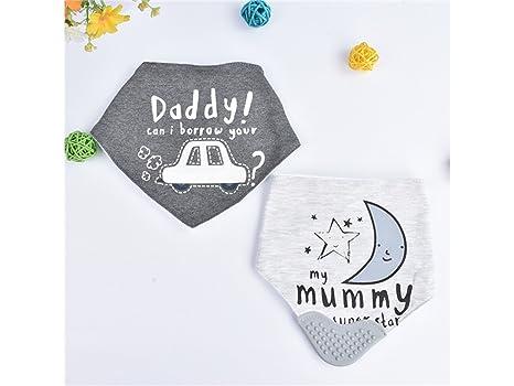 TjcmSs PCS Creative Baby Saliva Toallas baberos baberos baberos para niños (patrón de coche)