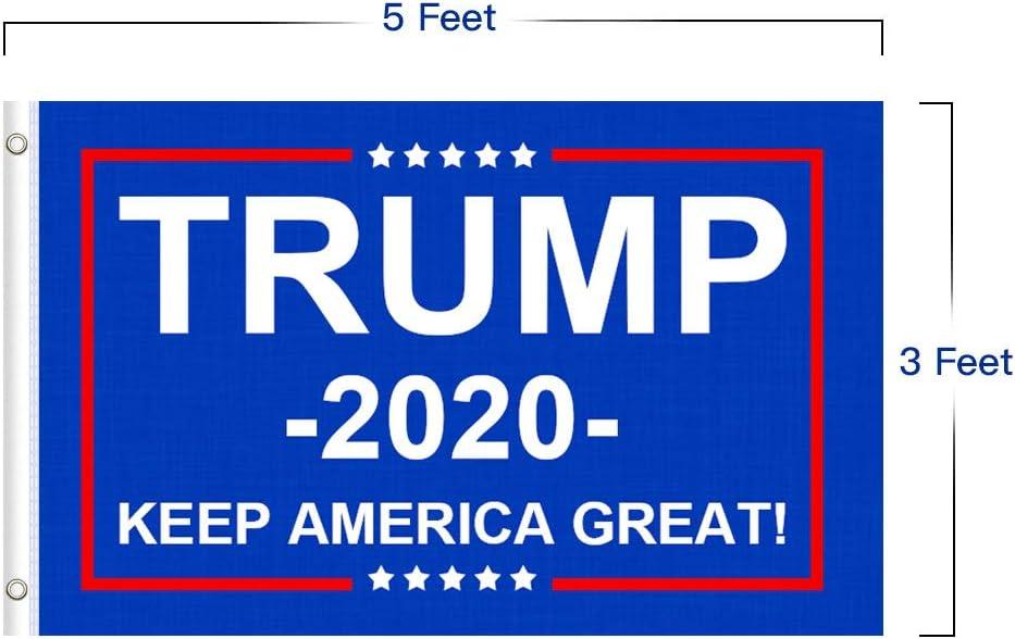 2PCS 3*5 2020 Donald Trump Flag for President Keep America Great Flag