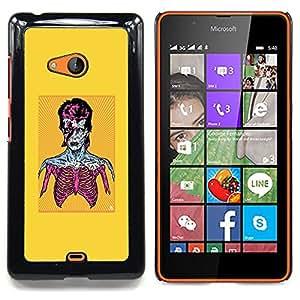 - Zombie Bowie - - Cubierta del caso de impacto con el patr??n Art Designs FOR Microsoft Nokia Lumia 540 N540 Queen Pattern