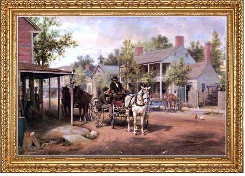 (Art Oyster Edward Lamson Henry Horse and Buggy on Main Street - 18.05