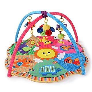 NuoEn Tappeto da Gioco per Bambini,Sei Tipi di Animale Gioco Mat strisciare Mat Bebè Puzzle Giocattoli Fitness Rack
