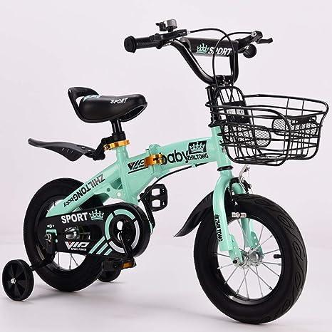 JYXZ Bici del Niño Plegable Bicicleta Seguro Ajustable 14 ...