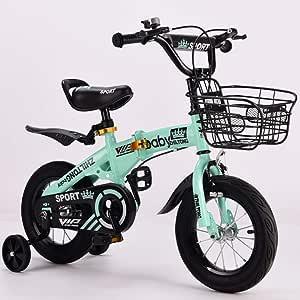 JYXZ Bici del Niño Plegable Bicicleta Seguro Ajustable 14