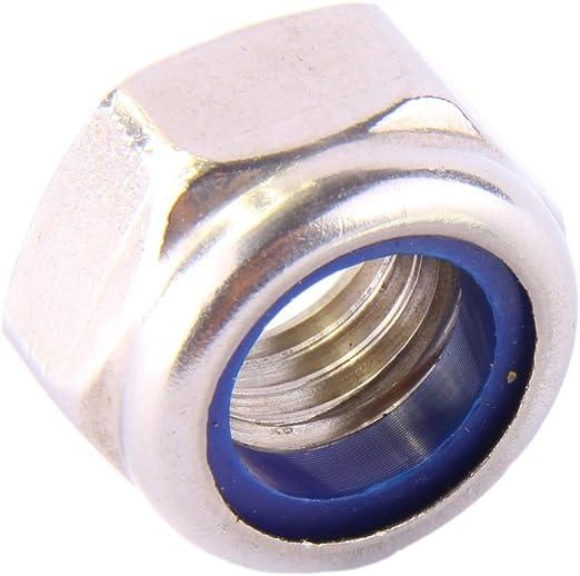Sicherungsmuttern Stopmuttern Klemmmuttern Muttern V2A 2 St/ück Sechskantmuttern M5 selbstsichernd DIN 985 Edelstahl A2