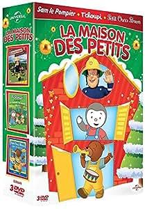 Maison des petits - Coffret: Sam le pompier, les règles de sécurité + T'choupi, la balade en forêt + Petit Ours Brun fait des farces
