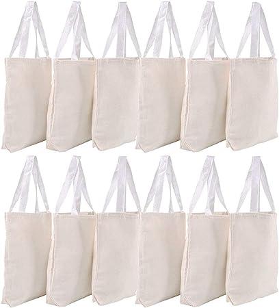 Amazon.com: Bedwina - Bolsas de lona, 12 unidades, 13.0 x ...