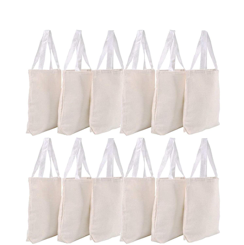 Amazon.com  Canvas Tote Bags - Bulk 12 Pack 13