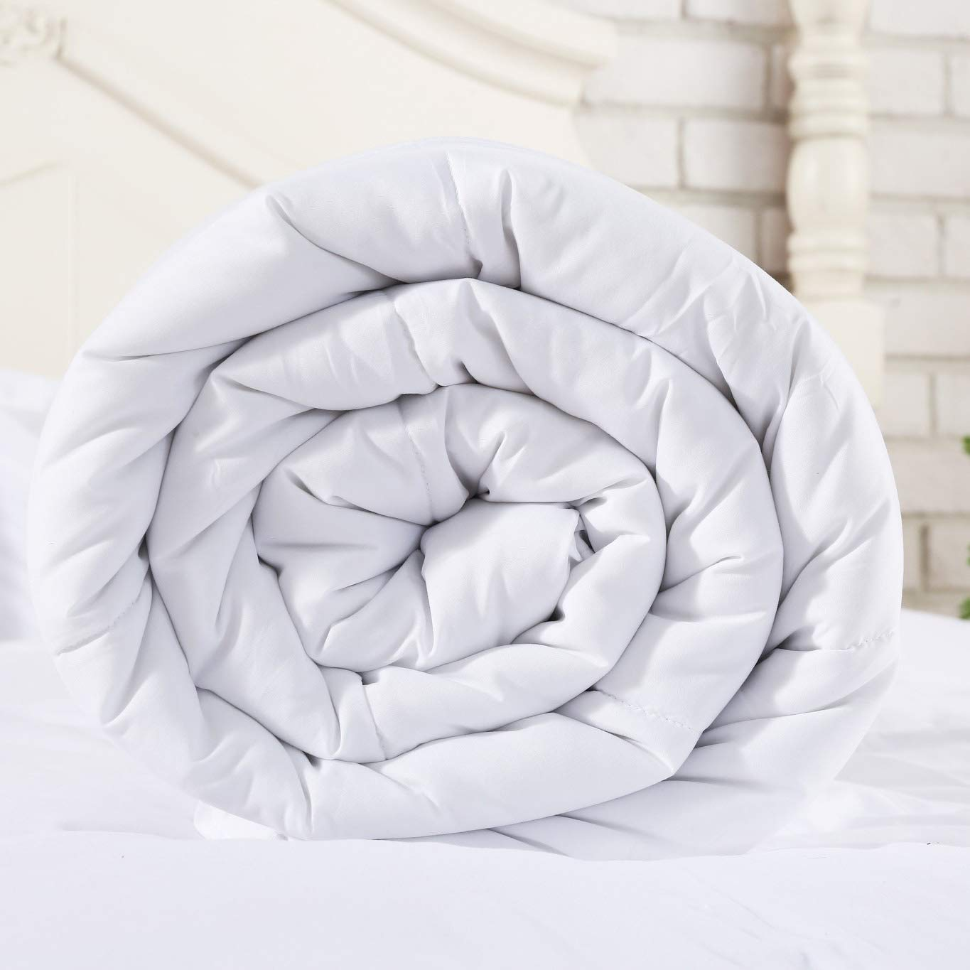 SNUZZZZ Premium Down Alternative Quilted Comforter with Nanotex Coolest Comfort Temperature Regulating, Reversible and All-Season Available, Plush Microfiber Fill, Duvet Insert or Stand-Alone (King)