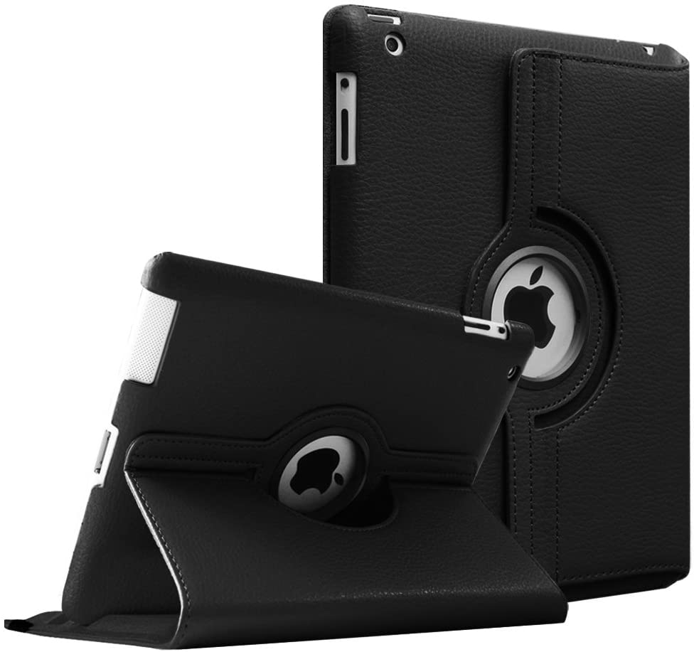 Fintie Rotating Case for iPad 4 3 2 (Old Model) 9.7 inch Tablet - 360 Degree Rotating Smart Stand Protective Cover Auto Wake/Sleep for iPad 4th Gen Retina Display, iPad 3 & iPad 2, Black