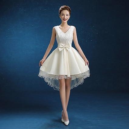Vestido de Novia de Novia Moderna Vestido de Champán Vestido de Dama de Honor Vestido de