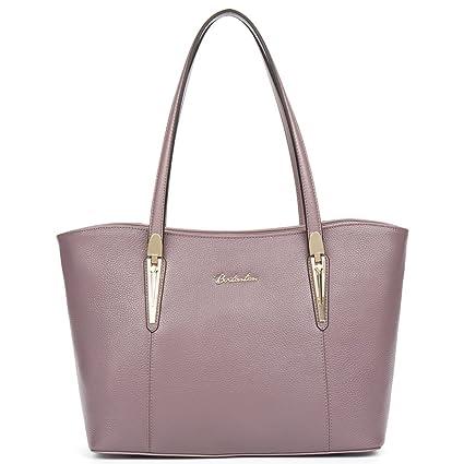 3d3982633082 Big Sale,BOSTANTEN Genuine Leather Handbags Designer Shoulder Tote Bag for  Women Pink  Amazon.co.uk  Luggage