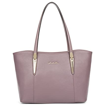 2a6106d247c3 Big Sale,BOSTANTEN Genuine Leather Handbags Designer Shoulder Tote Bag for  Women Pink  Amazon.co.uk  Luggage