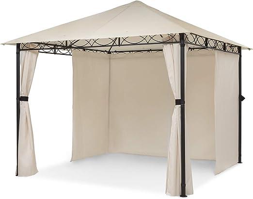 blumfeldt Mondo – Pabellón de jardín, Carpa para Fiestas, tamaño: 2, 95 x 2, 6 x 2, 95 m, 4 Paredes, EasyMount Concept, resiste al Mal Tiempo: UV/Viento/Lluvia, Beige: Amazon.es: Jardín