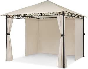 blumfeldt Mondo – Pabellón de jardín, Carpa para Fiestas, tamaño: 2,95 x 2,6 x 2,95 m, 4 Paredes, EasyMount Concept, resiste al Mal Tiempo: ...