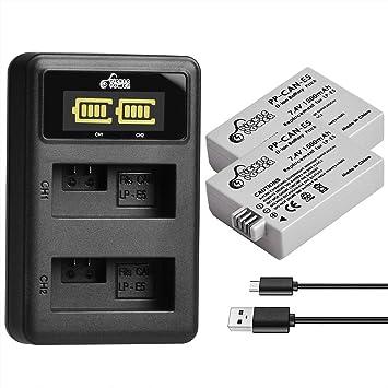 Pickle Power LP-E5 - Batería Recargable de Iones de Litio (2 ...