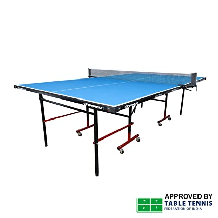 Gymnco Practice Full Size Table Tennis Table With Wheel U0026 Laminated Top 12  Mm (Free