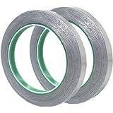 【MOLO】導電性アルミ箔テープ 10mm幅X20m長さX0.09厚み (2巻入)