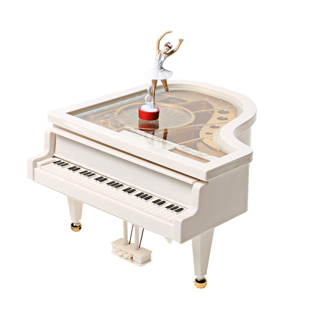A-SZCXTOP Vintage Mechanical Classical Ballerina Girl on the Piano Music Box Laputa Piano Dancing Girls Rotating Music Box KKTPY0725