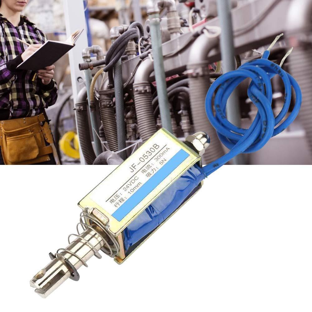 6//12//24V DC Electromagnet,Automation Control 300mA DC Pull Electromagnet 5N Retractable Range 10mm 24V