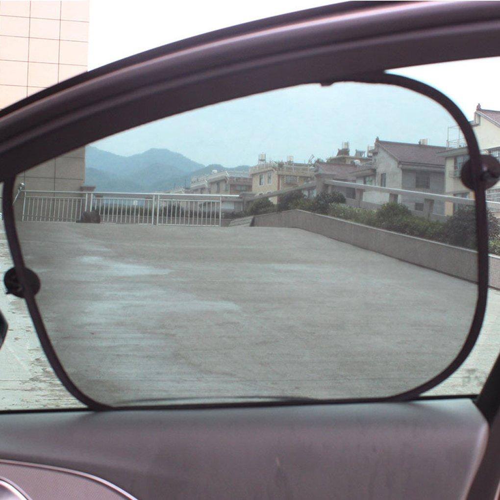 ELENXS 1 Paire Pliable Side Car Pare-Soleil Automatique de la fen/être Mesh Rideau Pare-Soleil du v/éhicule Pare-Soleil Couverture Mesh Shield Car-Styling