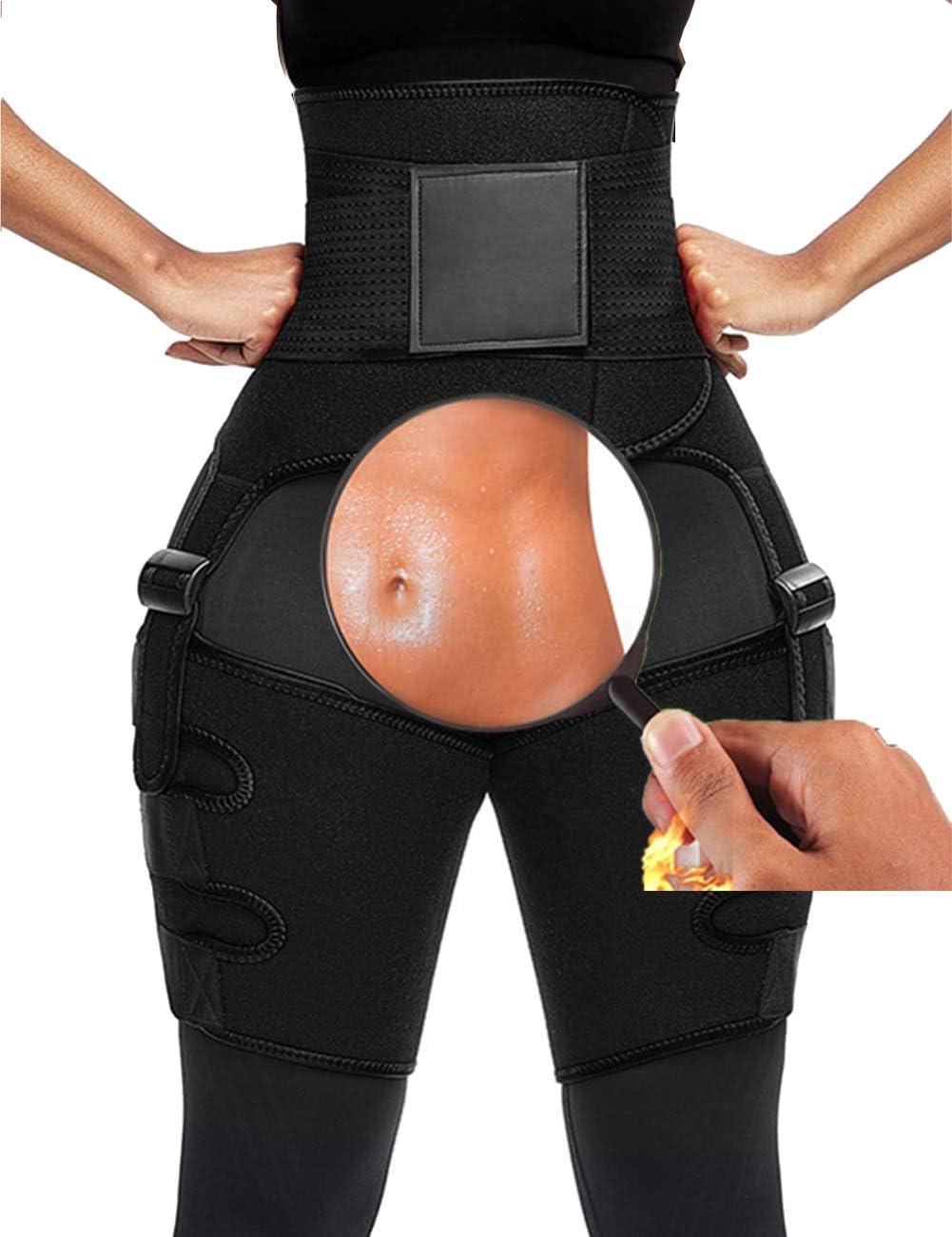 ODOBOU 3-in-1 Waist Trainer for Women, Butt Lifter and Hip Enhancer, Thigh Trimmers Eraser Shapeware Booty Belt: Sports & Outdoors