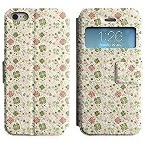 Be-Star Colorful Printed Design Slim PU Leather View Window Stand Flip Cover Case For Apple iPhone 5 / 5S ( Pretty Flowers ) Kimberly Kurzendoerfer
