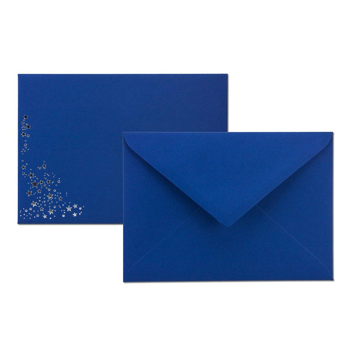 154 x 220 mm Nassklebung Marke: Gustav NEUSER/® festlich Matter Umschlag in dunkelrot DIN C5 110 g//m/² 25x Weihnachts-Briefumschl/äge mit Gold-Metallic gepr/ägtem Sternenregen