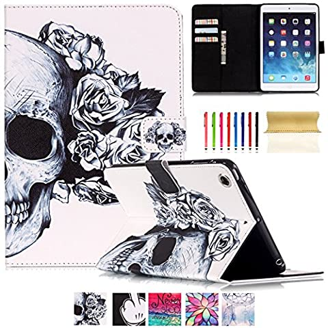 iPad Air Case-UUcovers PU Leather Smart Cover with Auto Sleep/Wake Feature Cards/Cash Slot for Apple iPad Air (iPad 5th Generation) 2013 Model (Ipad Air 2 Cover Tiger)
