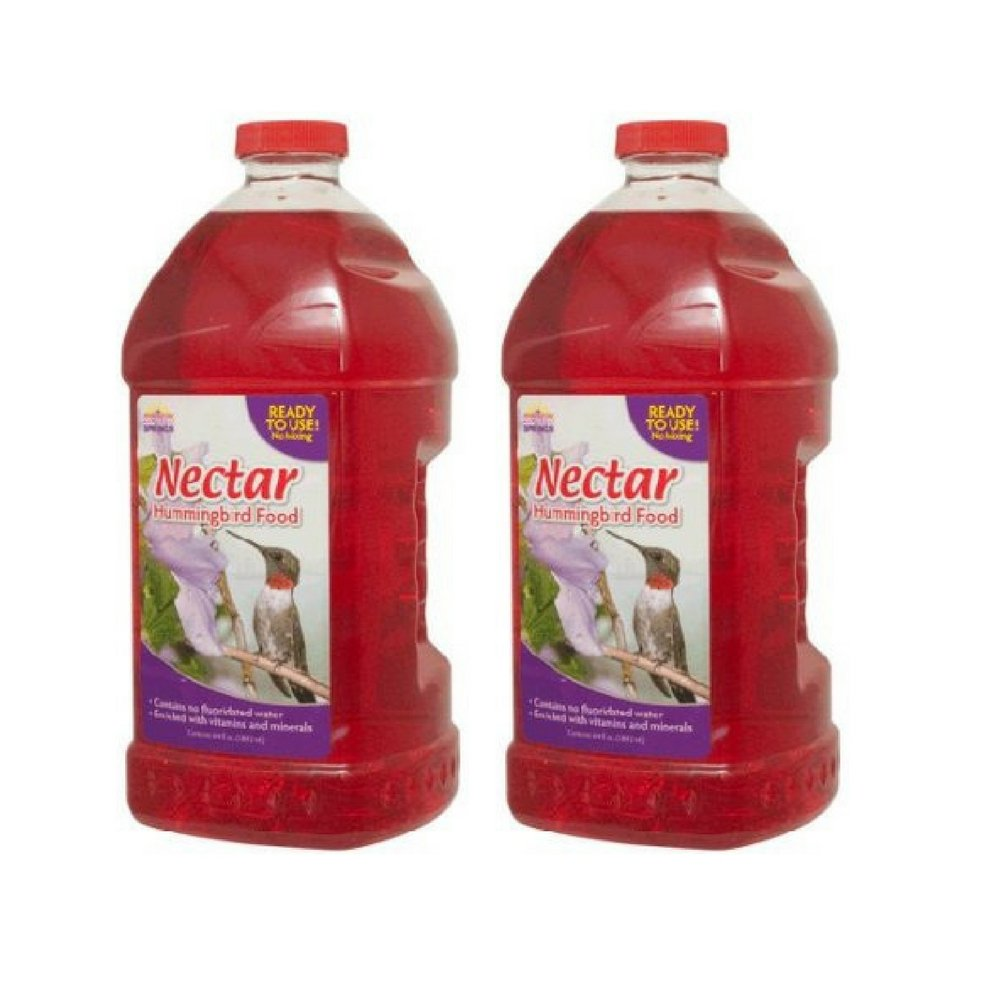 Natural Springs Hummingbird Nectar Ready to Use Food, 64 oz (Pack of 2)