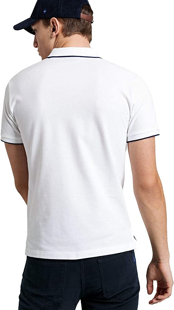 Gant Polo Tech Blanco Prep M: Amazon.es: Ropa y accesorios