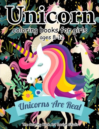 Unicorn Coloring Books for Girls ages 8-12: Unicorn Coloring Book for Girls, Little Girls, Kids: New Best Relaxing, Fun and Beautiful Coloring Pages For Girls Ages 2-4, 4-8, 9-12, Little Teen