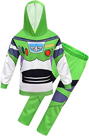 Thombase Pijama de Halloween Woody and Buzz Lightyear para niños