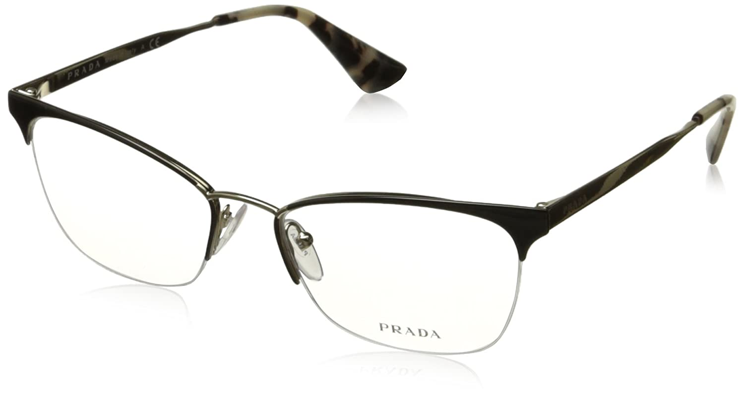 405e0bcd3e4a order amazon prada cinema pr65qv eyeglass frames qe31o1 53 black pale gold  shoes 83891 ece2d