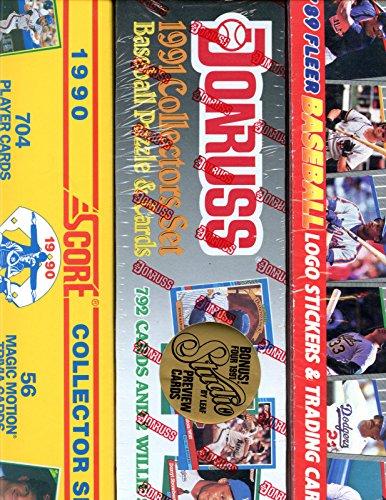 [1989 Fleer 1990 Score 1991 Donruss Baseball Card Complete Box set Collection] (1991 Donruss Baseball)