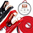 20 Foot Jumper Cables with Carry Bag - 4 Gauge, 400 AMP Booster Cable Kit