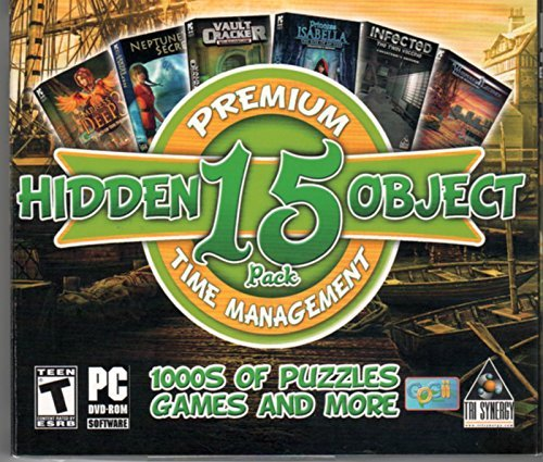 Premium Hidden Object 15 Pack Time Management PC Game