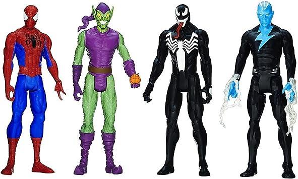 Hasbro Spider-Man - Pack 4 Figuras Titan Spider-Man vs Villanos ...